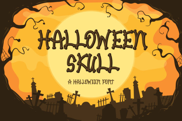 Print on Demand: Halloween Skull Display Font By FatmaStudio