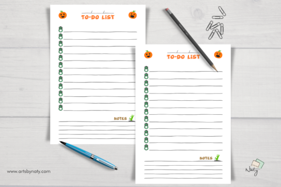 Print on Demand: Halloween to-do List Printable Notebook Graphic KDP Interiors By artsbynaty - Image 2