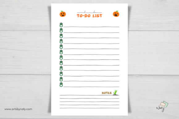 Print on Demand: Halloween to-do List Printable Notebook Graphic KDP Interiors By artsbynaty - Image 4