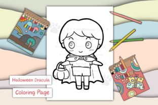 Print on Demand: Halloween Dracula Boy Graphic Coloring Pages & Books Kids By 18CC 1
