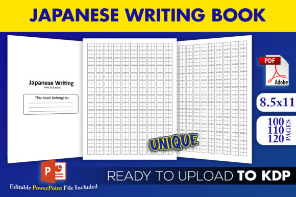 Print on Demand: Japanese Writing Practice | KDP Interior Graphic KDP Interiors By Beast Designer - Image 1