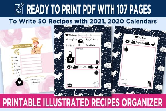 Print on Demand: KDP 50 Recipes Organizer Notebook Vol 3 Graphic KDP Interiors By Queen Dreams Store