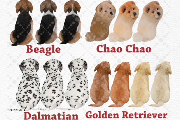 Kids and Puppies Dog Breeds for Mug Graphic Item
