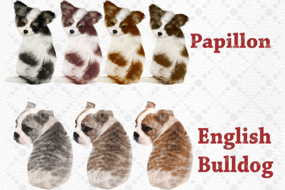 Kids and Puppies Dog Breeds for Mug Graphic Design