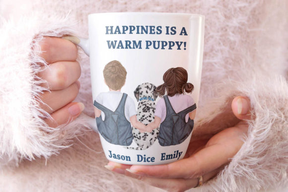 Kids and Puppies Dog Breeds for Mug Graphic Downloadable Digital File