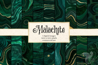 Print on Demand: Malachite Textures with Gold Strata Graphic Textures By Digital Curio 1