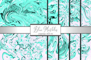 Marble Pattern Abstract Blue Background Graphic Backgrounds By PrisonerRabbit