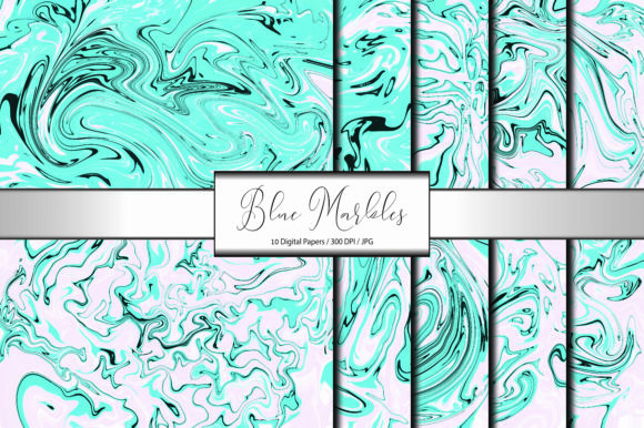 Marble Pattern Abstract Blue Background Graphic Backgrounds By porlawatsangyoo