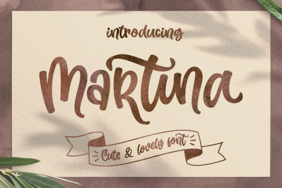 Print on Demand: Martina Script & Handwritten Font By Subectype - Image 1