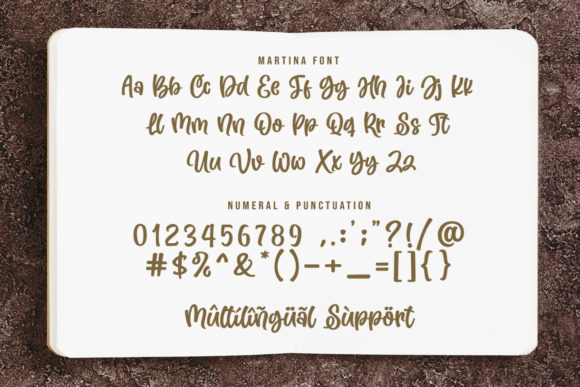 Print on Demand: Martina Script & Handwritten Font By Subectype - Image 10