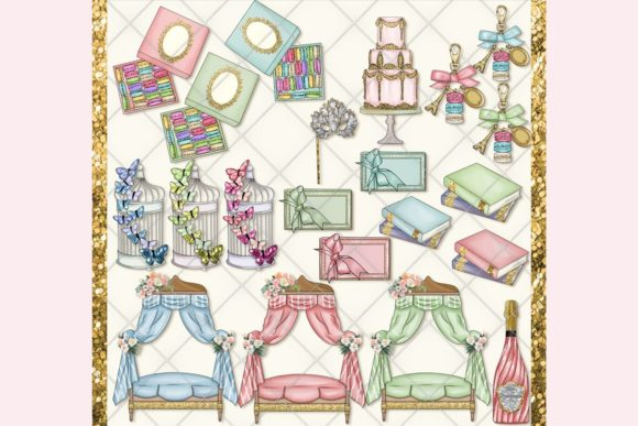 Print on Demand: Masquerade Carnival Clipart Set Graphic Illustrations By TheGGShop - Image 2
