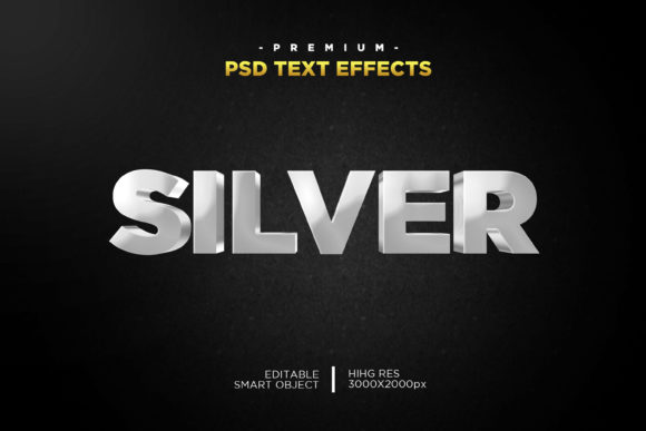 Silver 3D Text Style Effect Graphic Layer Styles By Evloxx