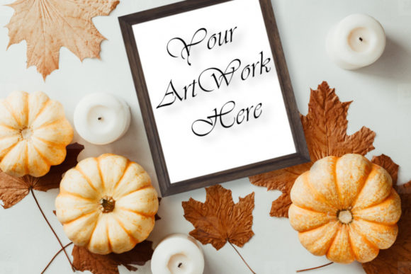 Mockup Autumn Picture Frame  Graphic Product Mockups By Mockup Shop