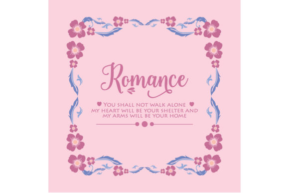 Modern Romance Greeting Card Design Graphic Backgrounds By stockfloral