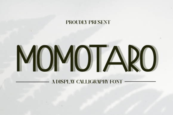 Print on Demand: Momotaro Display Font By merge354