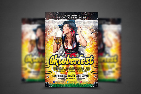 Oktoberfest Flyer Template 2 Graphic Print Templates By Ciusan