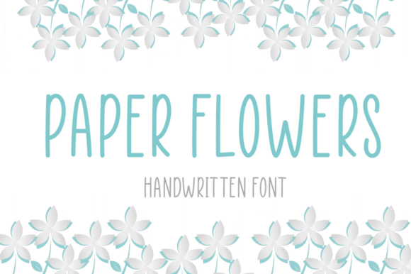 Print on Demand: Paper Flowers Script & Handwritten Font By Manjalistudio