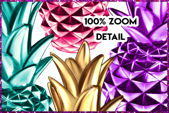 Print on Demand: Pineapple Clipart Set Graphic Illustrations By TheGGShop - Image 4