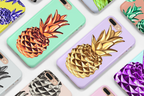 Print on Demand: Pineapple Clipart Set Graphic Illustrations By TheGGShop - Image 6