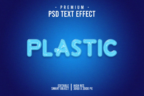 Plastic Blue Text Style Effect Graphic Layer Styles By Evloxx