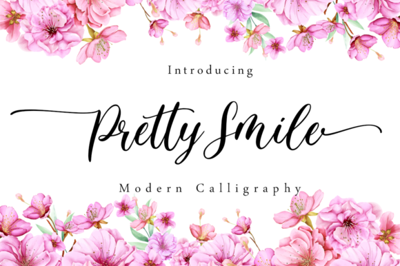 Print on Demand: Pretty Smile Script & Handwritten Font By Sronstudio