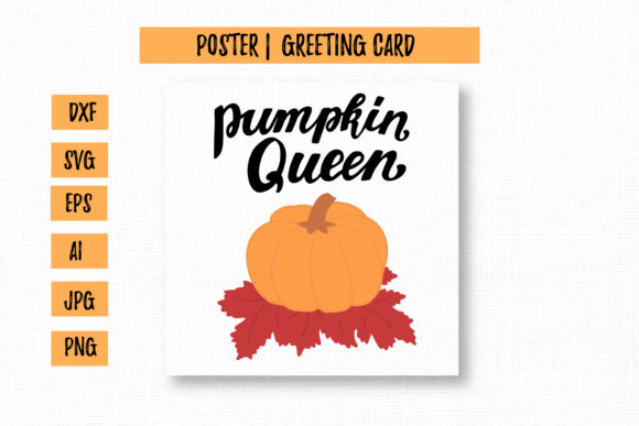 Pumpkin Queen Thanksgiving Graphic Illustrations By cyrilliclettering