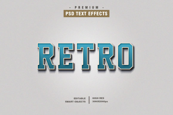 Retro Blue  Text Style Effect Graphic Layer Styles By Evloxx