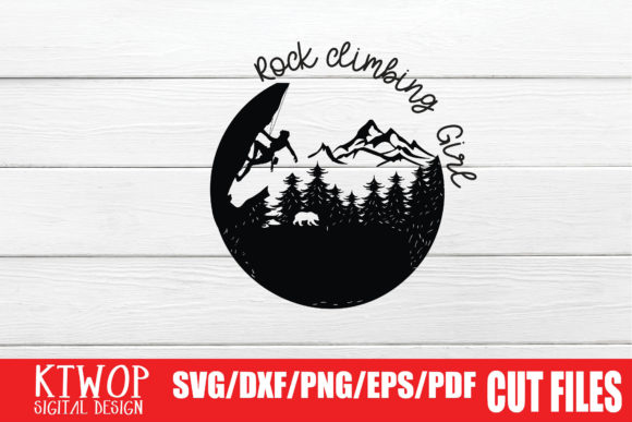Print on Demand: Rock Climbing Girl Graphic Crafts By KtwoP