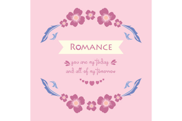 Romance Greeting Card Concept Graphic Backgrounds By stockfloral