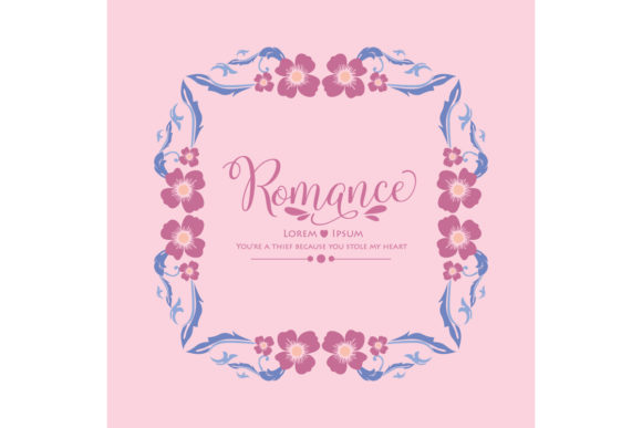 Romance Invitation Card Template Decor Graphic Backgrounds By stockfloral