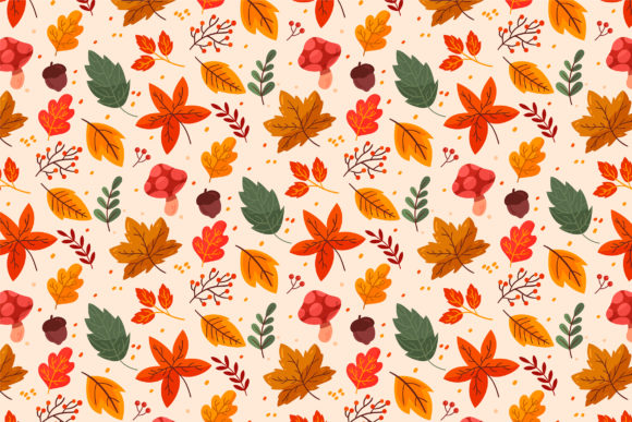 Print on Demand: Seamless Autumn Pattern Graphic Patterns By Miss Chatz