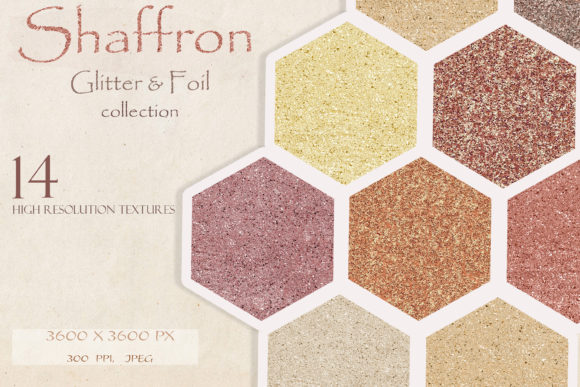Shaffron Metallic Glitter & Foil Collection Graphic Textures By liquid amethyst art