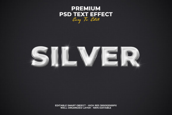 Silver Text Style Effect Graphic Layer Styles By Evloxx