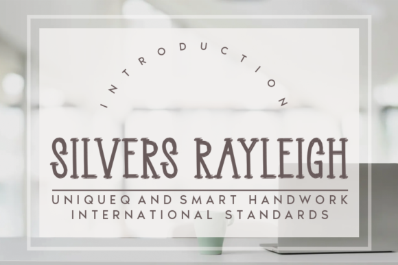 Print on Demand: Silvers Rayleigh Serif Font By andikastudio
