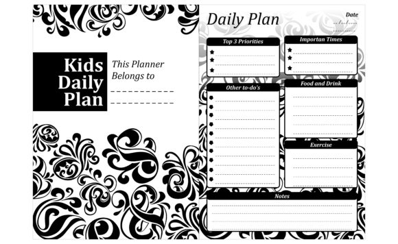 Print on Demand: Simple KDP with Swirl Ornament Theme Grafik Plotterdateien von Arief Sapta Adjie