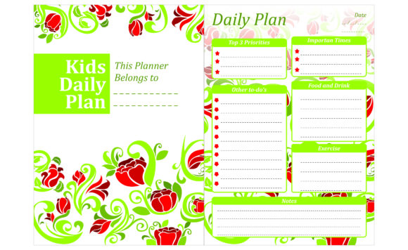Print on Demand: Simple KDP with Flower Ornament Theme Graphic Crafts By Arief Sapta Adjie