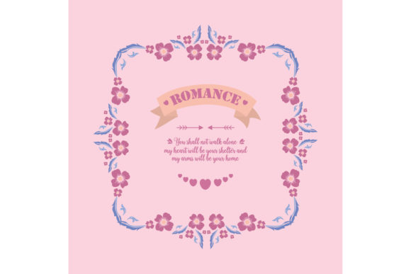 Simple Romance Greeting Card Design Graphic Backgrounds By stockfloral
