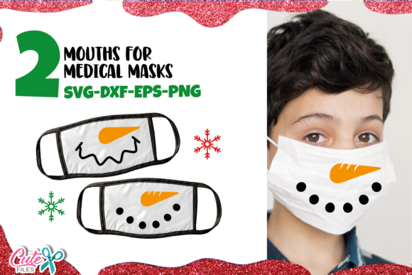 Snowman Face Mask   Graphic Illustrations By Cute files