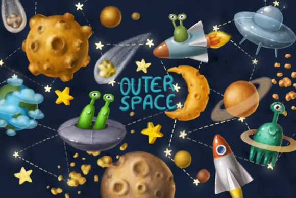 Space Objects Collection Graphic Item