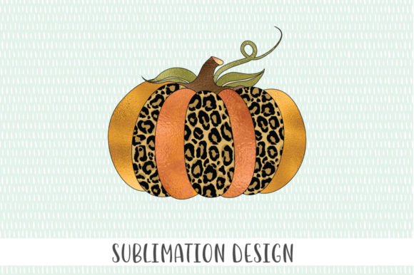 Sublimation Leopard Print Pumpkin Graphic Crafts By Simply Cut Co - Image 2