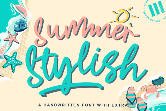 Print on Demand: Summer Stylish Script & Handwritten Font By colllabstudio