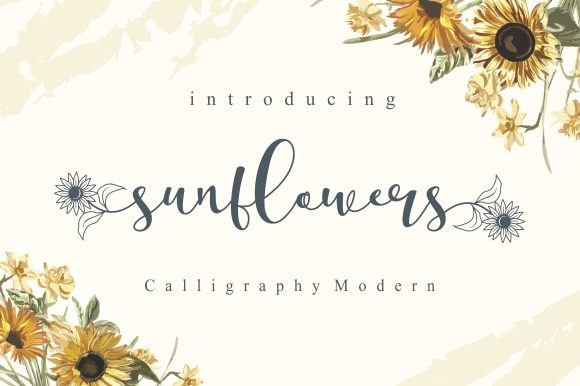 Print on Demand: Sunflowers Script & Handwritten Font By EKNOJI