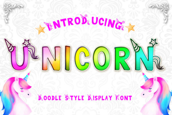 Print on Demand: Unicorn Display Fuente Por numnim