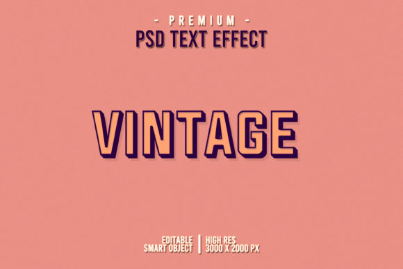Vintage Text  Style Effect Graphic Layer Styles By Evloxx