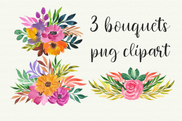 Watercolor Floral Clip Art Graphic Illustrations By PinkPearly - Image 2