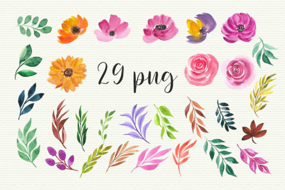 Watercolor Floral Clip Art Graphic Illustrations By PinkPearly - Image 4