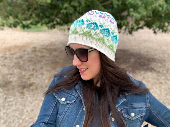 Wildflower Beanie Crochet Pattern Graphic Crochet Patterns By Knit and Crochet Ever After - Image 1