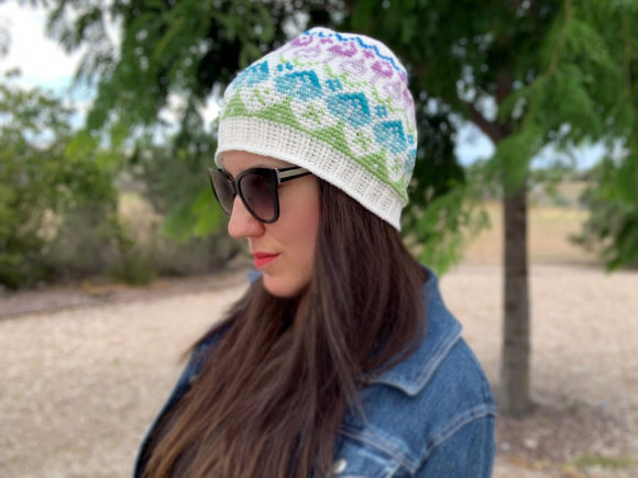 Wildflower Beanie Crochet Pattern Graphic Crochet Patterns By Knit and Crochet Ever After - Image 2