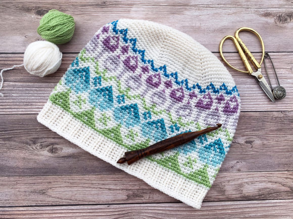 Wildflower Beanie Crochet Pattern Graphic Crochet Patterns By Knit and Crochet Ever After - Image 3