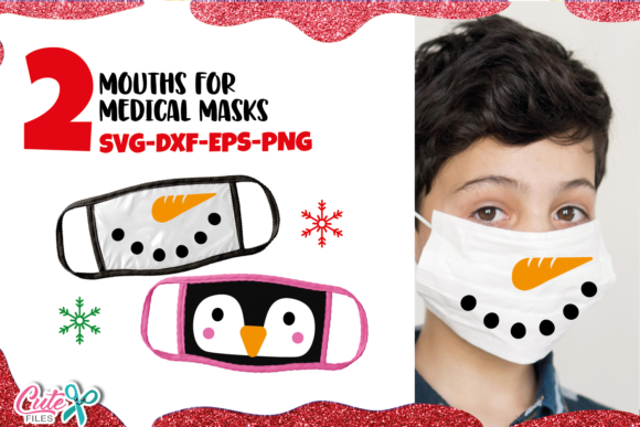 Winter Snowman Face Mask Graphic Illustrations By Cute files